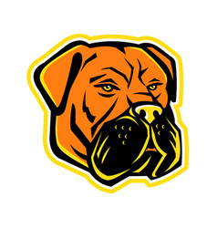 Bullmastiff dog mascot vector