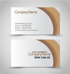 Business card set template Brown and white color vector