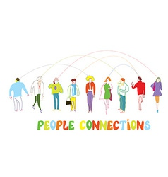 Business people concept - connection or banner vector image