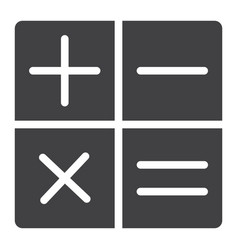 calculator glyph icon web and mobile calculate vector image