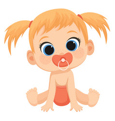 Cartoon child a cute baby vector