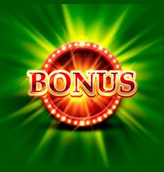 Casino bonus banner on a bright green background vector