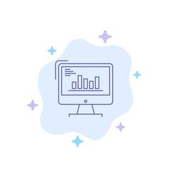chart analytics business computer diagram vector image