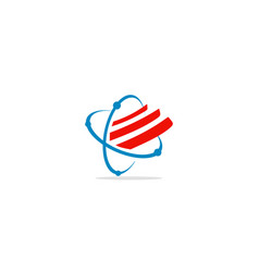 Circle orbit technology logo vector
