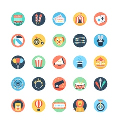 Circus Colored Icons 1 vector