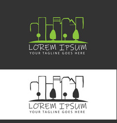 city negative space style image designs vector image