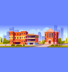 city with school kindergarten and university vector image