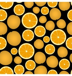 colorful orange fruits and half fruits dark vector image vector image