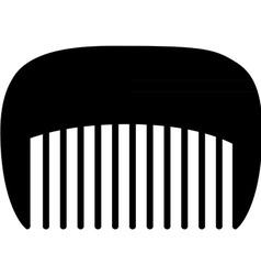 Comb black vector