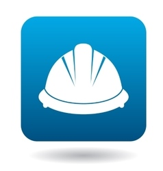 Construction helmet icon in simple style vector image
