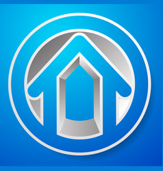 Contour house building symbol icon or logo vector
