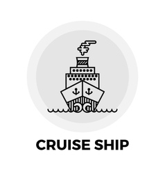 Cruise Ship Icon vector image