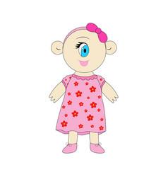 Cyclops little cute cartoon vector