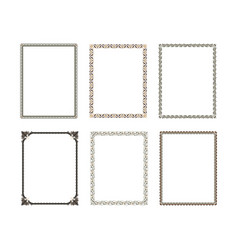 decorative frame elegant element for design vector image