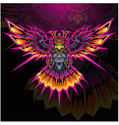 eagle armor esport mascot logo vector image