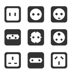 electrical outlet type socket icon vector image