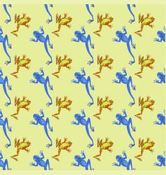 frog cartoon tropical animal cartoon nature vector image