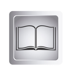 gray book open icon vector image