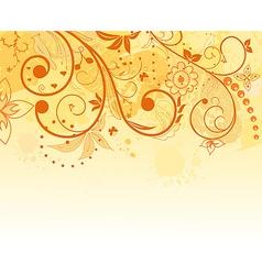 Grunge flower background element for design vector