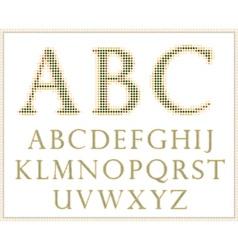 halftone alphabet full set vector image