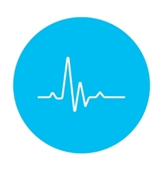 Hheart beat cardiogram line icon vector image