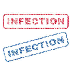 Infection textile stamps vector