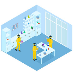 isometric science research concept vector image