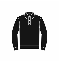 Long sleeve polo shirt icon simple style vector