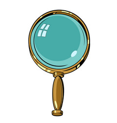 magnifying glass magnifier lens glasses loupe vector image