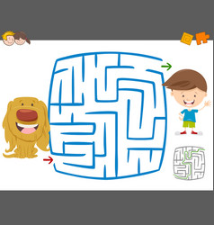 maze leisure activity game vector image