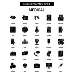 Medical glyph icon set vector