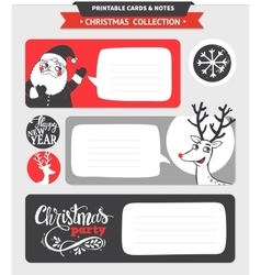 Merry Christmas printable set vector