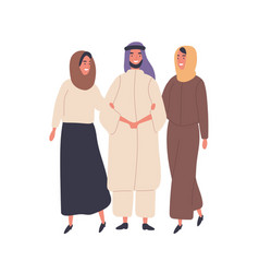muslim family flat people in vector image