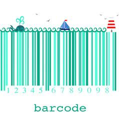 nautical barcode image vector image