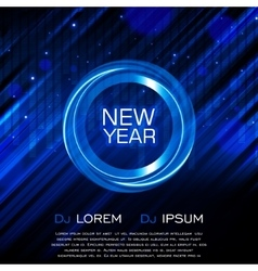 New Year Party Flyer Club Party Flyer vector image