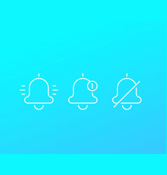 notification line icons vector image