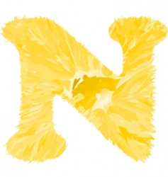 one letter of orange alphabet vector image