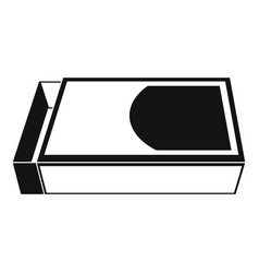 open matchbox icon simple style vector image