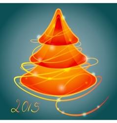 Orange luminous christmas tree vector