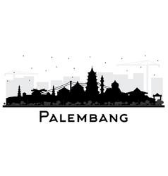 Palembang indonesia city skyline silhouette vector