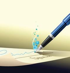 Pen sign contract vector