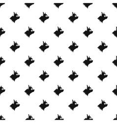 Pinscher dog pattern simple style vector