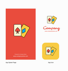 poker company logo app icon and splash page vector image