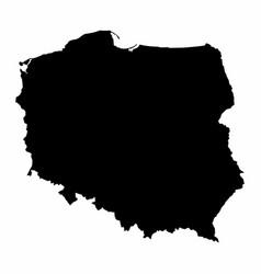 Poland silhouette map vector