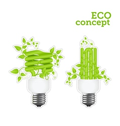power saving green two stickers 2001 01 vector image vector image