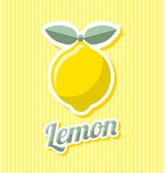 Retro lemon vector