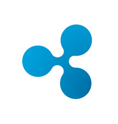 Ripple coin symbol logo vector