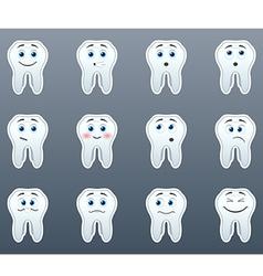 Set of stickers teeth vector image