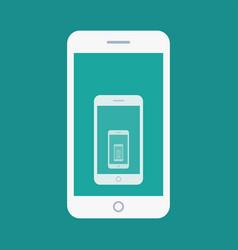 smartphone recursion flat icon vector image