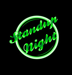 standup night florescent light vector image